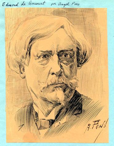 Edmond de Goncourt par Angel Pons